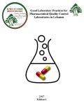 Good Laboratory Practices Guidelines for Pharmaceutical Quality Control Laboratories in Lebanon